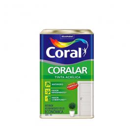 Imagem - Tinta Acrílica Branco Fosco Econômica 18l - Coralar Coral cód: 2096