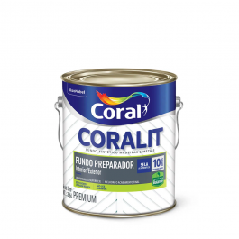 Imagem - Fundo Preparador Branco Fosco Premium 3,6l - Coralit Coral cód: 3746