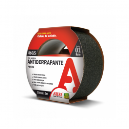 Imagem - Fita Antiderrapante Preta 50mmx5m Ref 860/s - Adere cód: 113321