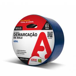Imagem - Fita de Demarcação de Solo Azul 50mmx15m Ref 851i/s - Adere cód: 116677