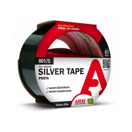 Imagem - Fita Silver Tape Preta 45mmx5m Ref 801/s - Adere cód: 113316