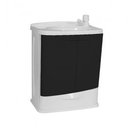 Imagem - Gabinete em Pvc Para Banheiro Branco/preto Com Lavatorio 45,5x32x58,8cm Ref Gab5-br1 - Astra cód: 126655