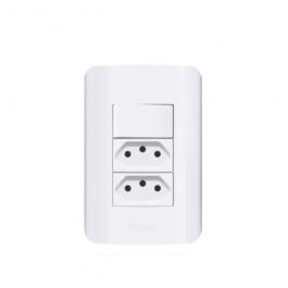 Imagem - Interruptor Com 2 Tomadas A10 Branco - Romazi cód: 117580