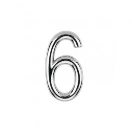 Imagem - Número 6 em Abs 145mm Cromado Ref 8885 - Bemfixa cód: 119845
