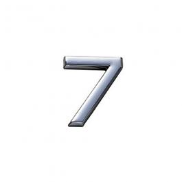 Imagem - Número 7 em Abs 145mm Cromado Ref 8886 - Bemfixa cód: 119846