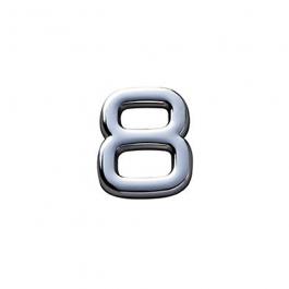 Imagem - Número 8 em Abs 145mm Cromado Ref 8887 - Bemfixa cód: 119847