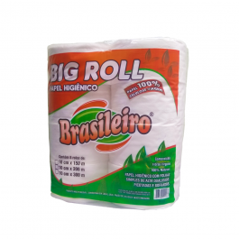 Imagem - Papel Hig 100% Celulose Big Roll br 8x200 - Brasileiro cód: 123247
