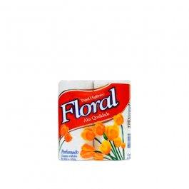 Imagem - Papel Higiênico Floral Folha Simples 4x30m - Suzano cód: 126285