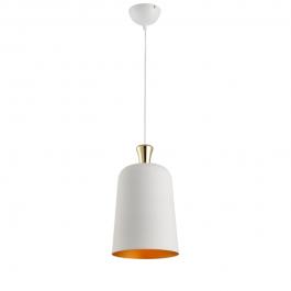 Imagem - Pendente Bell Pequeno 230mm Branco Com Dourado E27 Ref 489020001 - Avant cód: 131161