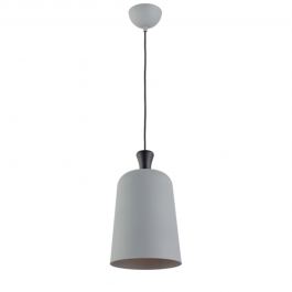 Imagem - Pendente Bell Pequeno 230mm Cinza E27 Ref 489040009 - Avant cód: 131159