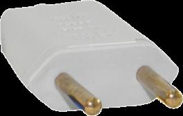Imagem - Plug Retangular 2p 10a 250v Branco Ref 39191 - Mec Tronic cód: 128173