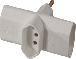 Imagem - Plug t 3 Saídas 2p+t 10a 250v Branco Ref 39612 - Mec Tronic cód: 128181