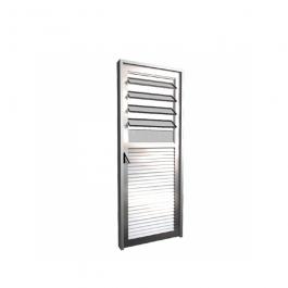 Imagem - Porta de Alumínio Lado Direito Basculante Vidro Canelado 80x210 - Quality cód: 122038