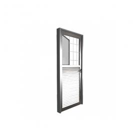Imagem - Porta de Alumínio Lado Esquerdo Postigo Vidro Canelado 80x210 - Quality cód: 122030