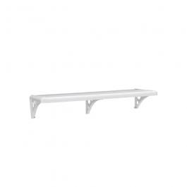 Imagem - Prateleira Borda Arredondada de Plástico Pvc Com Suporte 40x20x2,5cm Branco Ref Pms/40-br - Astra cód: 5898