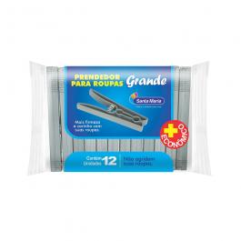 Imagem - Prendedor de Roupa Plástico Grande Contem 12 Unidades Ref 872 - Santa Maria cód: 121769
