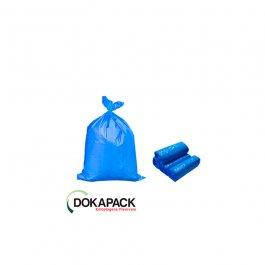 Imagem - Saco Para Lixo em Rolo 100 Litros Azul Com 100 Sacos 70cmx82cm - Dokapack cód: 128020