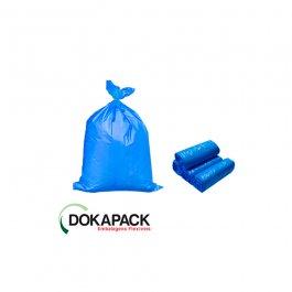 Imagem - Saco Para Lixo em Rolo 200 Litros Azul Com 100 Sacos 83cmx97cm - Dokapack cód: 128019