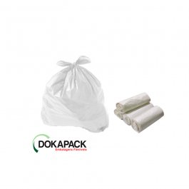 Imagem - Saco Para Lixo em Rolo 200 Litros Transparente Reforçado Com 100 Sacos 85cmx95cm - Dokapack cód: 124877