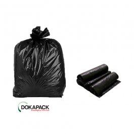 Imagem - Saco Para Lixo em Rolo 300 Litros Preto Reforçado Com 50 Sacos 90cmx105cm - Dokapack cód: 124875
