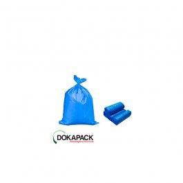 Imagem - Saco Para Lixo em Rolo 40 Litros Azul Com 100 Sacos 45cmx55cm - Dokapack cód: 128016