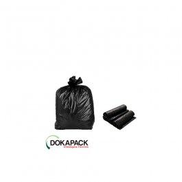 Imagem - Saco Para Lixo em Rolo 40 Litros Preto Com 100 Sacos 45cmx55cm - Dokapack cód: 124869