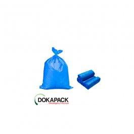 Imagem - Saco Para Lixo em Rolo 60 Litros Azul Com 100 Sacos 55cmx65cm - Dokapack cód: 128017