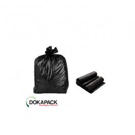 Imagem - Saco Para Lixo em Rolo 60 Litros Preto Com 100 Sacos 55cmx65cm - Dokapack cód: 124870
