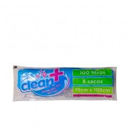 Imagem - Saco Para Lixo em Rolo Clean+ 100 Litros Azul Com 5 Sacos 75cmx105cm - Dokapack cód: 126782