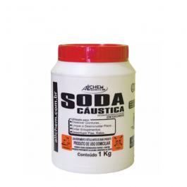 Imagem - Soda Caustica Desincrustante Alcalino em Escamas 1kg - Allchem Quimica cód: 115756