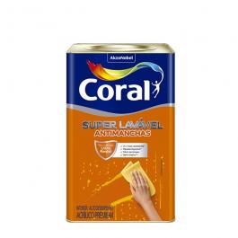 Imagem - Tinta Acrílica Branco Eggshell Premium 18l - Super Lavável Coral cód: 118675