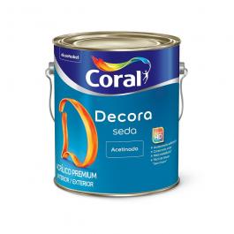 Imagem - Tinta Acrílica Branco Acetinado Premium 3,6l - Decora Seda Coral cód: 110719