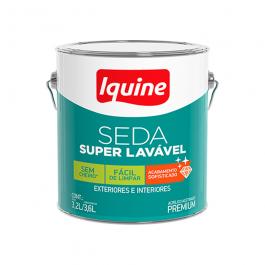 Imagem - Tinta Acrílica Branco Neve Acetinado Premium 3,6l - Seda Super Lavável Iquine cód: 115059