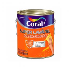 Imagem - Tinta Acrílica Eggshell Premium Branco Neve 3,6l - Super Lavável Coral cód: 117381