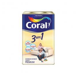 Imagem - Tinta Acrílica Fosco Premium 18l Branco Neve - 3 em 1 Coral cód: 2265