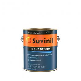 Imagem - Tinta Acrílica Gelo Acetinado Premium 3,6l - Toque de Seda Suvinil cód: 108617