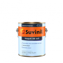 Imagem - Tinta Acrílica Gelo Semibrilho Premium 3,6l - Toque de Luz Suvinil cód: 108613