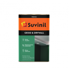 Imagem - Tinta Acrílica Gesso & Drywall 18l Branco Neve - Suvinil cód: 132619