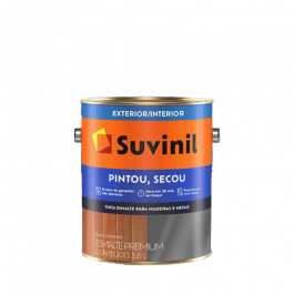 Imagem - Tinta Esmalte Amarelo Ouro Brilhante Base Solvente Premium 3,6l - Pintou Secou Suvinil cód: 128850