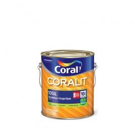 Imagem - Tinta Esmalte Branco Permanente Acetinado Secagem Rápida Premium 3,6l - Coralit Coral cód: 2246