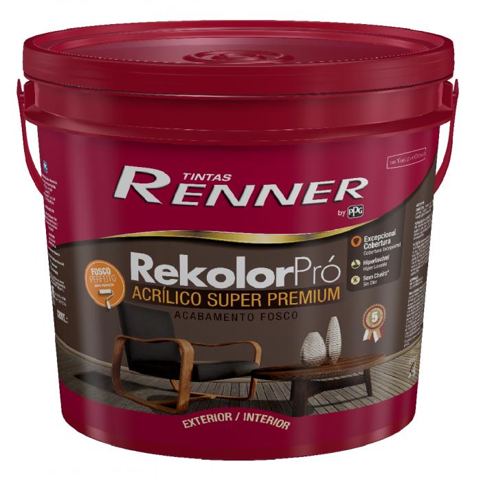 Acrilico Renner Rekolor Branco 18L - Fosco