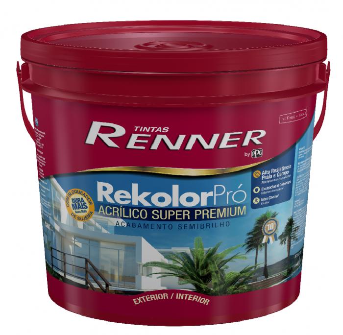 Acrilico Renner Rekolor Branco 18L - Semi Brilho