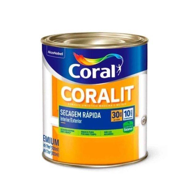 Esm Acetinado Coralit Seca Rapido Branco 0,9L
