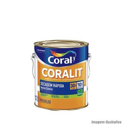 Esm Acetinado Coralit Seca Rapido Branco 3,6L