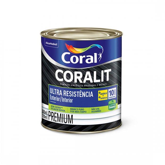 Esm Brilhante Coralit Ultra Resist Branco 0,8L