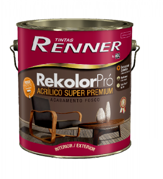 Imagem - Acrilico Renner Rekolor Branco 3,6L - Fosco cód: 14710