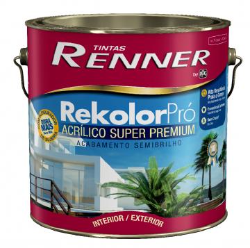 Imagem - Acrilico Renner Rekolor Branco 3,6L - Semi Brilho cód: 14712