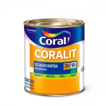 Imagem - Esm Acetinado Coralit Seca Rapido Branco 0,9L cód: 03547