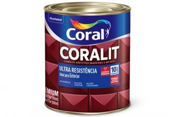 Imagem - Esm Brilhante Coralit Ultra Resist Cinza Esc 0,9L cód: 03503