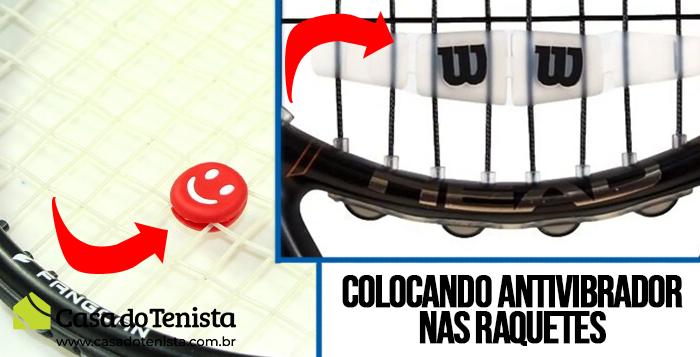 Imagem - Como colocar um antivibrador na raquete de tênis?
